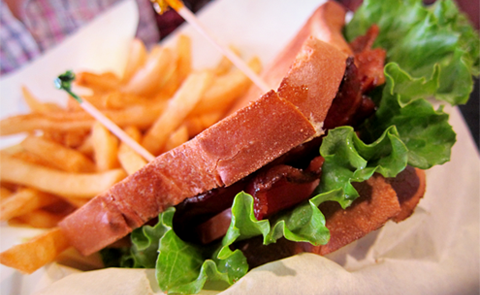 'BLT Sandwich + Fries' by punctuated on Flickr, used under a Creative Commons Attribution 2.0 Generic License