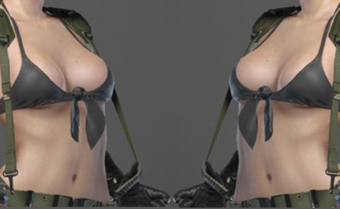 When you gaze into the cleavage, the cleavage also gazes into at you.